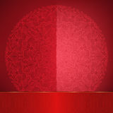 Tarjeta roja brillante Foto de archivo libre de regalías