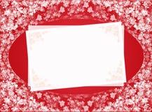 Tarjeta roja de la invitación Foto de archivo libre de regalías