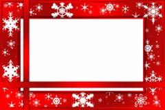 Tarjeta roja de la Navidad Foto de archivo libre de regalías