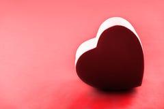 Tarjeta roja del amor Fotos de archivo