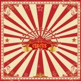 Tarjeta roja del circo cuadrado stock de ilustración