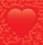 Tarjeta roja del corazón stock de ilustración