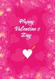 Tarjeta roja del día de tarjeta del día de San Valentín Imagen de archivo