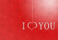 Tarjeta roja del día de tarjetas del día de San Valentín Fotos de archivo libres de regalías