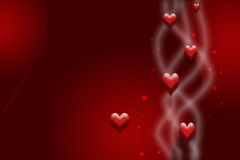 Tarjeta roja para el día de tarjeta del día de San Valentín Fotografía de archivo
