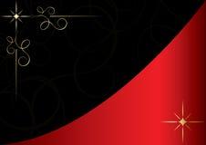 tarjeta roja y negra del vector de la vendimia Foto de archivo libre de regalías