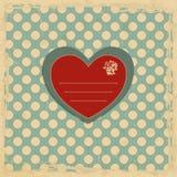 Tarjeta romántica Imagenes de archivo