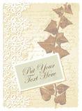 Tarjeta romántica con la hiedra Fotos de archivo