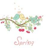 Tarjeta romántica de la primavera Fotografía de archivo