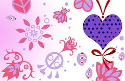 Tarjeta romántica del día del ` s de la tarjeta del día de San Valentín foto de archivo
