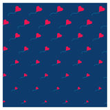 Tarjeta romántica linda para el día del ` s de la tarjeta del día de San Valentín, ejemplo del vector ilustración del vector