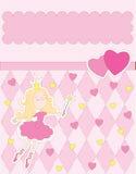 Tarjeta rosada Imagen de archivo libre de regalías