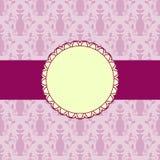 Tarjeta rosada ilustración del vector