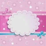 Tarjeta rosada Fotos de archivo libres de regalías