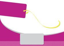 Tarjeta rosada Foto de archivo libre de regalías