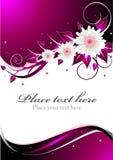 Tarjeta rosada de la invitación Imagen de archivo libre de regalías