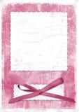 Tarjeta rosada para saludar en el estilo retro Ilustración del Vector
