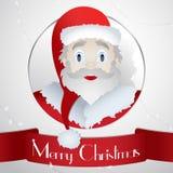 Tarjeta Santa Christmas 2015 - bandera del ejemplo Imágenes de archivo libres de regalías