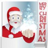 Tarjeta Santa Christmas 2015 - magia del ejemplo ilustración del vector