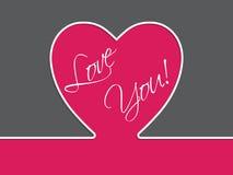 Tarjeta simple de la tarjeta del día de San Valentín Fotos de archivo libres de regalías