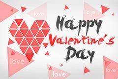 Tarjeta simple feliz del día de tarjeta del día de San Valentín Fotografía de archivo libre de regalías