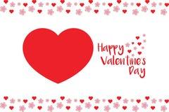 Tarjeta simple pero magnífica de la tarjeta del día de San Valentín imagenes de archivo