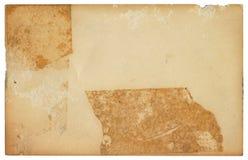 Tarjeta sujetada con cinta adhesiva vieja ilustración del vector