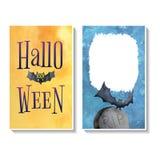 Tarjeta templates2 de Halloween Foto de archivo libre de regalías