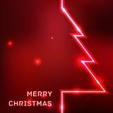Tarjeta tipográfica de la Feliz Navidad que brilla intensamente Fotografía de archivo
