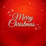 Tarjeta tradicional de la Feliz Navidad. Etiqueta tipográfica para su Xma Imagen de archivo
