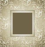 Tarjeta tradicional de la invitación del vector Foto de archivo libre de regalías
