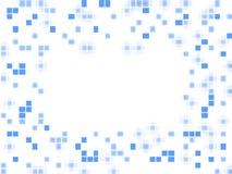 Tarjeta vacía con los puntos azules Fotografía de archivo