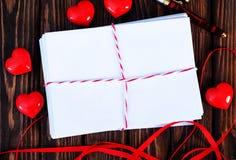 Tarjeta vacía de la tarjeta del día de San Valentín del copyspace Imágenes de archivo libres de regalías
