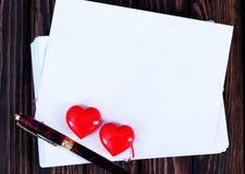 Tarjeta vacía de la tarjeta del día de San Valentín del copyspace Imagen de archivo libre de regalías