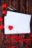 Tarjeta vacía de la tarjeta del día de San Valentín del copyspace Imagen de archivo