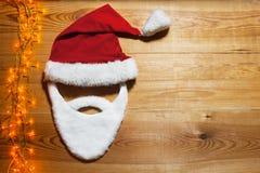 Tarjeta vacía para el saludo de la Navidad Fotografía de archivo