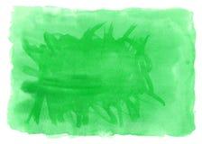 Tarjeta verde de la invitación de la boda de la acuarela Fotografía de archivo libre de regalías