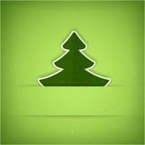 Tarjeta verde del árbol de navidad Fotografía de archivo