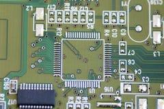 Tarjeta verde del ordenador Imagen de archivo
