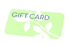 Tarjeta verde del regalo Foto de archivo libre de regalías