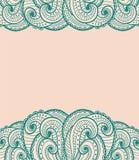 Tarjeta verde y rosada Imagen de archivo libre de regalías