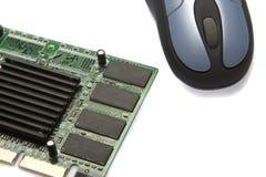 Tarjeta video y ratón Imagen de archivo