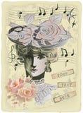 Tarjeta vieja Imagen de archivo libre de regalías