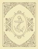 Tarjeta vieja Organizado por capas Fotos de archivo