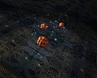 Tarjeta y átomos de circuitos libre illustration