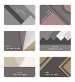 Tarjeta y banderas materiales determinadas del diseño del vector stock de ilustración