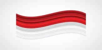 Tarjeta y cartel de felicitación de 17 August Indonesia Happy Independence Day fuegos artificiales en fondo indonesio de la bande ilustración del vector