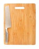 Tarjeta y cuchilla de corte Fotografía de archivo