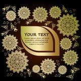 Tarjeta y lugar de oro de la enhorabuena para el texto Imagenes de archivo