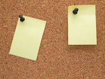 Tarjeta y nota de la nota Imágenes de archivo libres de regalías